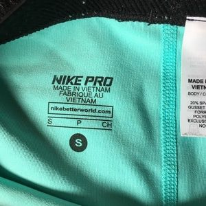 Nike Other - Women's Nike Pro Teal Spandex Compression Shorts